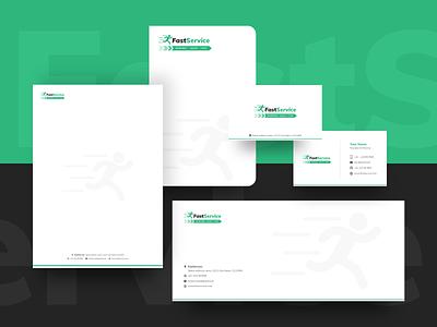 Fast Service Logo Branding Kit interface web design flat minimal icon typography vector branding logo