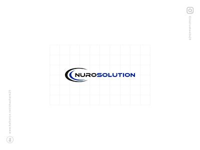 Nuro Solution Logo Design logodesign logos logo logotype logo design software company software design software development ui design typeface tyography