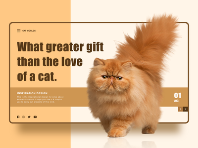 Cat Worlds Web Design cats pets animal ux ui design web webdesign website design website web design webpage