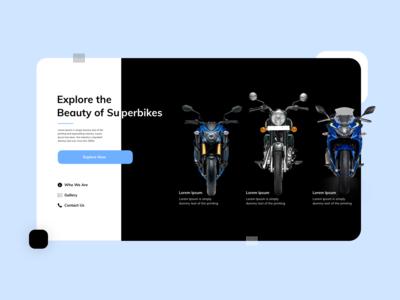 Superbikes Landing Page