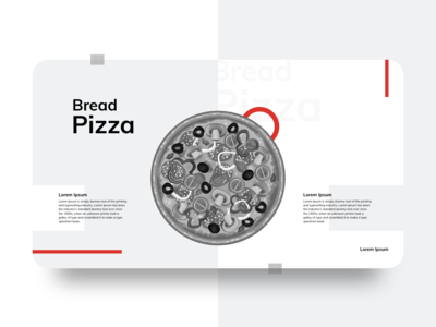 Bread Pizza Landing Page