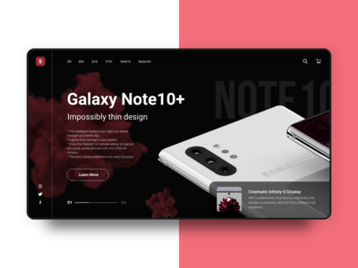 Galaxy Note10+ Landing Page (Red Theme)