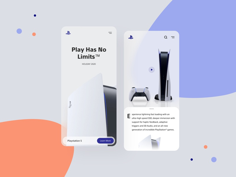 Playstatiion web responsive redesign concept application homepage uiux gamers games playstatuion playstation5 mobile app mobile ui figmadesign app figma