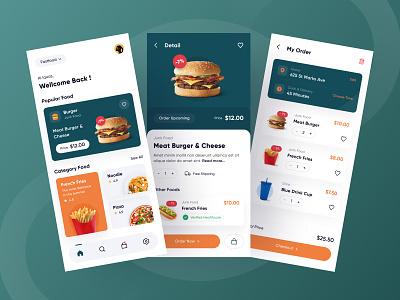 Jafoo - Fast Food App fooddelivery appdesign burger green fastfood foodapp uiux mobiledesign