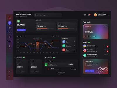 Banking Dashboard UI Kit dark uiux transaction money banking graphic ui kit dashboard