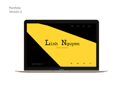 Portfolio version 2 - Homepage Design