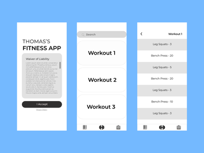 SBU's App Club's Fitness App Project