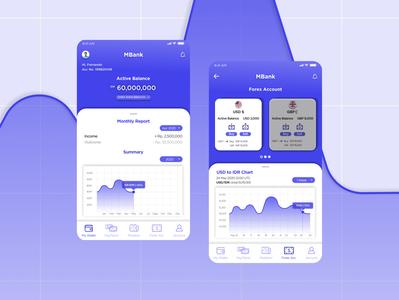Re-Upload MBanking illustrator mobile design mobile ui minimal flat application design ux design app