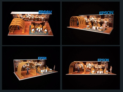 3D modelling epson booth