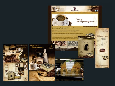 Dewi Luwak Cofffee Product and Corporate design