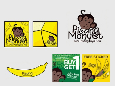Pisang Monyet Branding Design
