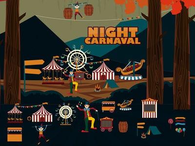 Night Carnaval vector