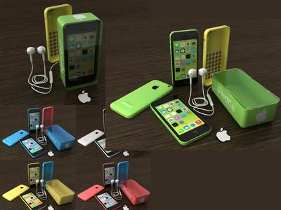 Iphone 3d modelling mockup