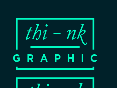 Thinkgraphic Freelancer Logo neon