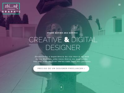 Thinkgraphic Freelancer Landing Page
