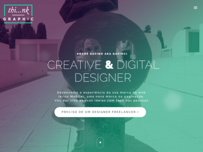Thinkgraphic Freelancer Landing Page website web design user interface graphic designer landing page logo freelancer