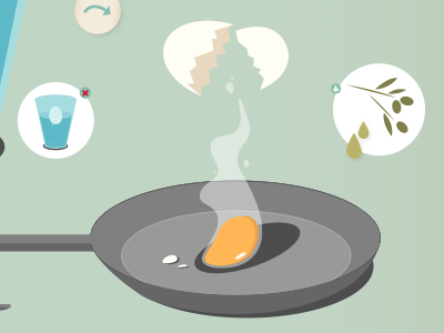 How to fry an egg illustration