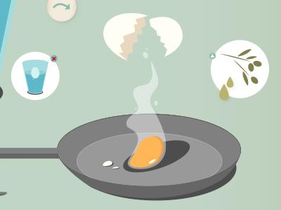 How to fry an egg illustration design freelancer egg graphic design digital illustration