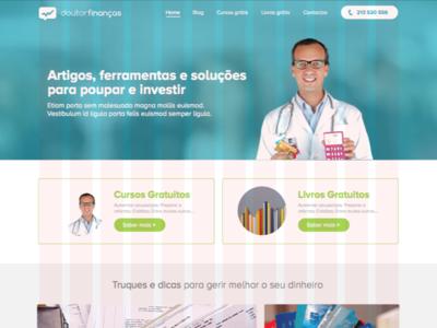 Doutor Finanças | Homepage (first approach) hello designers gradient graphic design design doutorfinancas website user interface webdesign