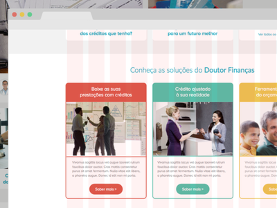 Doutor Finanças | Services page (first approach) webdesign user interface hello designers graphic design website doutorfinancas design