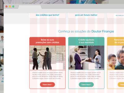 Doutor Finanças | Services page (first approach)