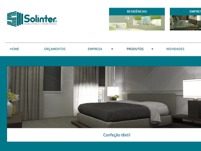 Solinter website from 2010 old stuff html flash development user interface design graphic design website