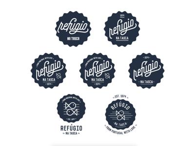 Refúgio na tasca restaurant Logotype lettering design graphic design logotype logo