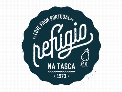 Refúgio na tasca restaurant Logotype restaurant logo brand brand design portugal refugio da roca logotype graphic design design