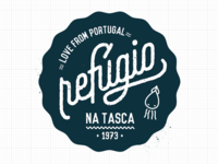 Refúgio na tasca restaurant Logotype