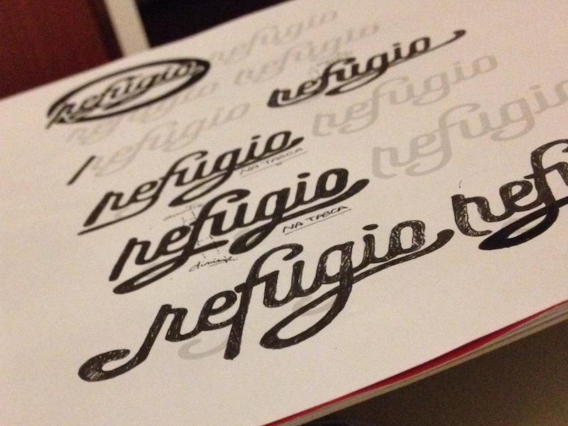 Refúgio na tasca restaurant Logotype letters drafts lettering design graphic design logotype logo