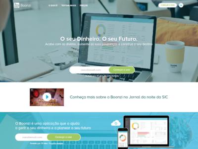 Boonzi website UI || Drafts comunication design user experience graphic design web webdesign interface user interface design boonzi