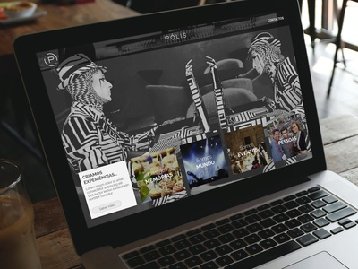 Website with blocks