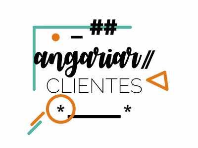 Angariar clientes colorful inspiration phrase type