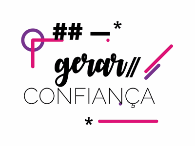 Gerar Confiança colorful inspiration phrase type