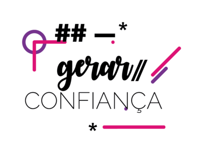 Gerar Confiança colorful inspiration phrase type
