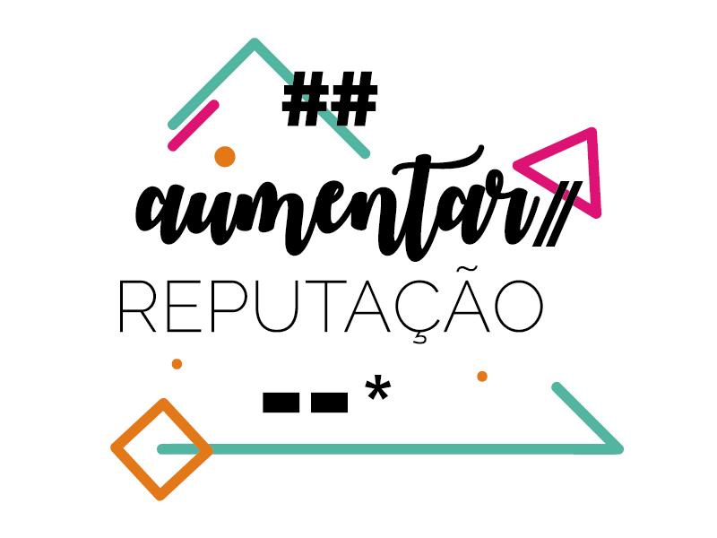 Aumentar reputação colorful inspiration phrase type