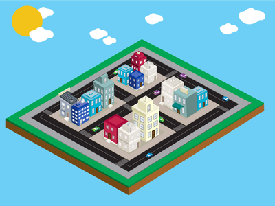 Isometric City Scene