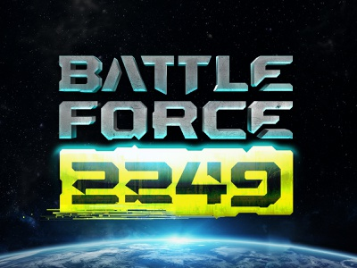 Battle Force 2249 Game Logo spaceship mark symbols gameart 3d art game space clash illustration logo gaming