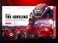 COLOSSUS: Anthem landing page UI Animation