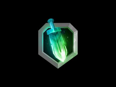Burning Sword Icon Animation achievement magic icon clean clash shield video animation fire knife sword esports gaming logo