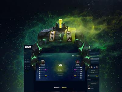 UGC eSports Matchmaking Platform animation logo team video animtion clash game esports gaming ui ux ux  ui dashboard matchmaking
