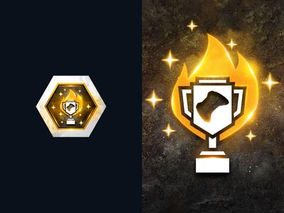 Above Average Gaming Achievements logo tournament illustration clean achievement game stars joystick trophy fire esports gaming