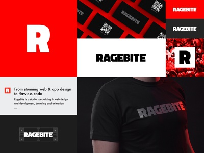 Ragebite Logo & Visual Identity corporate identity logotype logo design brand identity design identity design visual identity esports gaming branding logo