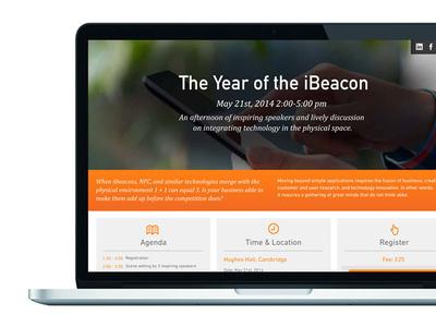 Ibeacon Webinar Landing Page
