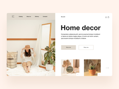 Home decor web site website ui site landingpage webdesign store home landing page interior decor
