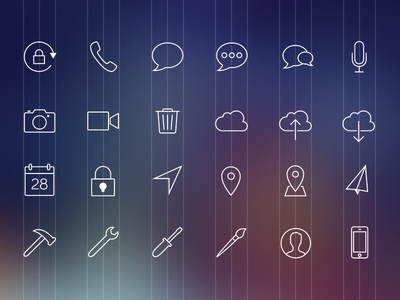 Icons ios7 icons line icons ios 7 free freebie