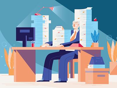 Paperwork ux character explainer vector flat minimal design illustration characterdesign animation