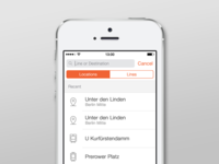 Moovit iOS App Redesign - Search