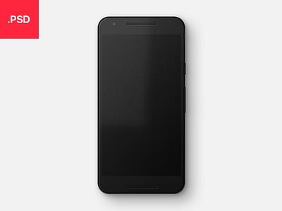 Realistic Nexus 5X Mockup google nexus realistic photoshop psd mockup