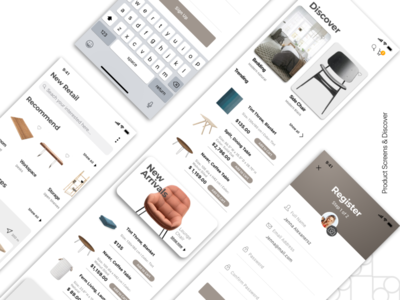 UI UX Wireframe for eCommerce App
